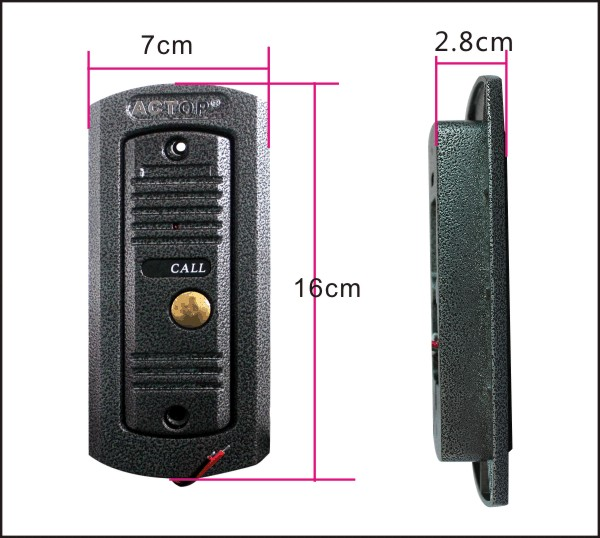 Shenzhen ACTOP SD card recordable wired door bell with pinhole len anti-vandal camera