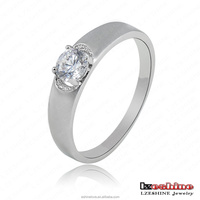 Simple Wedding Band Ring Austrian Crystal Jewelry Joias Ouro 18K CRI0029-B