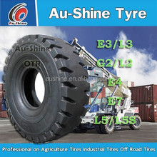 E4 tires size 14.00-24 container master tyre with Aushine brand for port