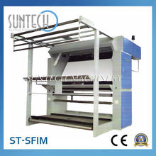 SUNTECH CE approved Fabric Inspection and Rolling Machine with Light Table