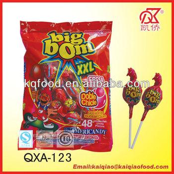 20g twist fruity bubble gum big bom xxl lollipop china for Cuisine xxl bubble
