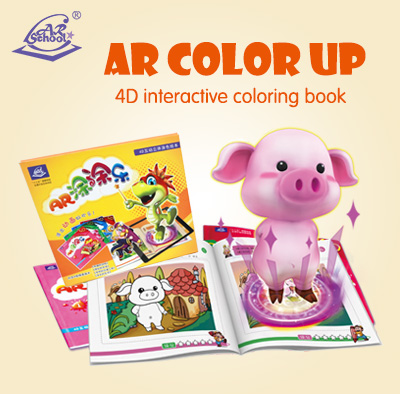 AR Color Up handpainted <strong>books</strong> with AR effect for children