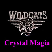2015 cat wild iron on rhinestone motif transfer hotfix rhinestone transfer