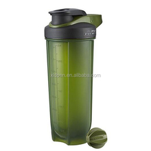Custom logo 700ml plastic protein shaker bottle with mixer ball