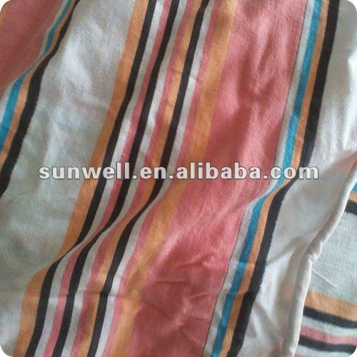 100% cotton knitted jersey Y/D auto stripe fabric