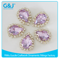 guojie brand factory creative design custom high quality Drop Shape costumed Cather With Glass Stone