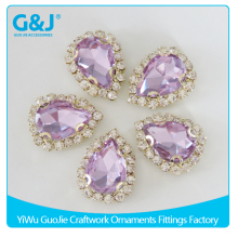 guojie brand factory creative design custom high quality Drop Shape customed Cather With Glass Stone