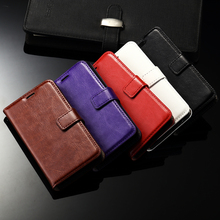 "Wallet leather case For Nokia lumia 550 4.7"", Leather Cover Crazy Horse Wallet Stand + Photo Card Slot Flip Case"