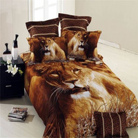 Hot selling cotton king size 3d bedding set