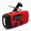 AM/FM/NOAA Hand-winding Charge Solar Flashlight Radio from China