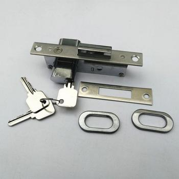 High Quality Aluminum Door Lock Body Chapa Pico Recto 1 Golpes For South America 554