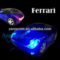 Blue LED Racing Car USB Optical Wireless Scroll Mouse