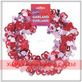 12 Foot Red and Pink Foil Cut Out Hearts Wire Garland Valentines Day Wedding Decoration