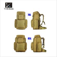 Large capatity 70L ,85L khaki military backpack with rain cover