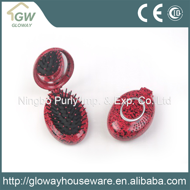 Easy to carry Egg-shaped design plastic hair brush Comb