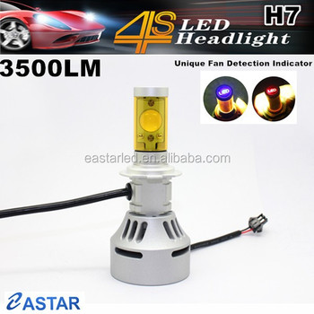 Hot selling No fan H4/H7 led head light motorcycle