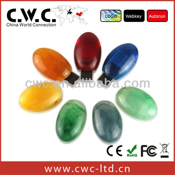 colorful stone shape usb disk