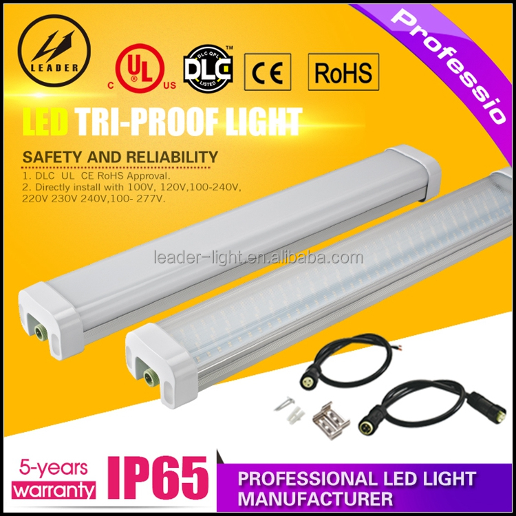 IP65 Tri-proof LED Light 50w lamp tube 1200mm 4ft led outdoor waterproof light