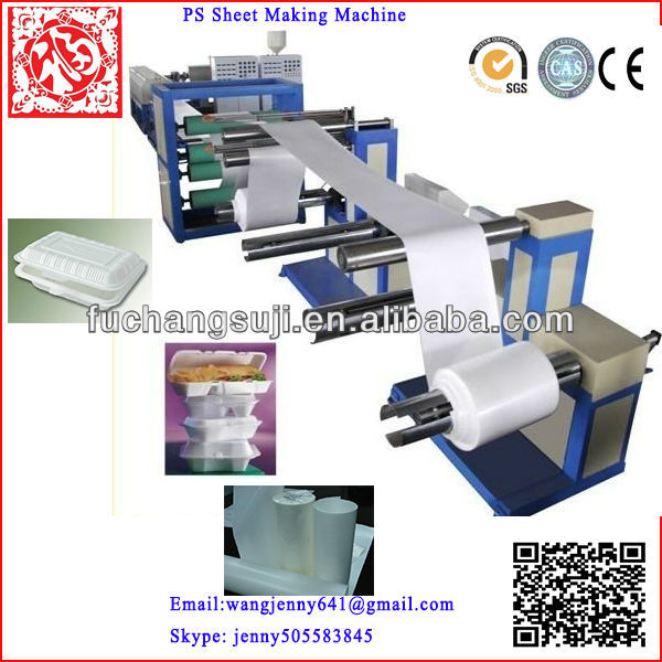 Salable PS disposable foam food container box machine