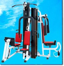 AMA-9600H deluxe multi station home gym equipment ( for five persons use, main frame:80*40*2.0 and 60*60*2.0 )