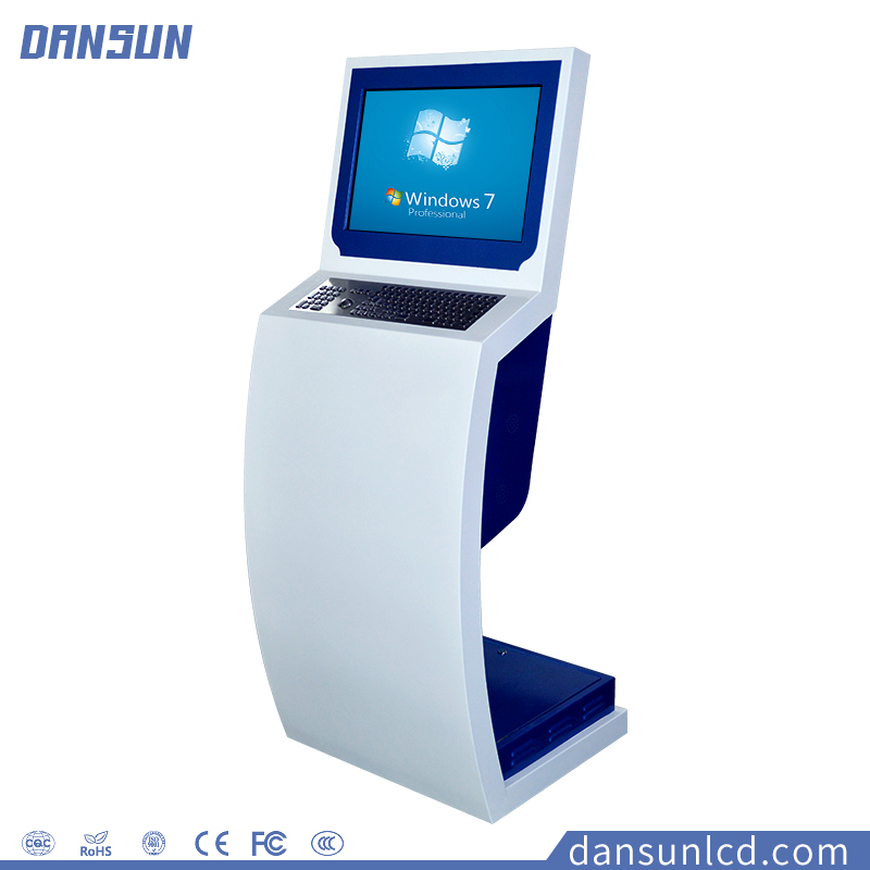 22 inch LED all-in-one touchscreen PC Kiosk stand digital signage information interactive AD display