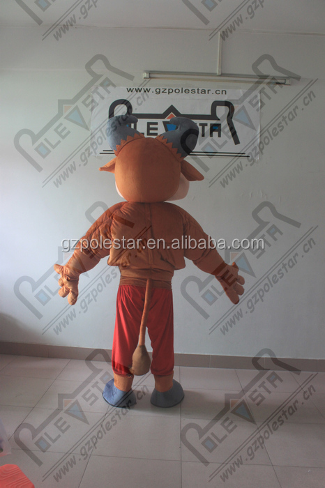 custom muscle bull mascot costumes