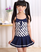 5071 2015 wholesale fashion hot sale new girls sweat cute stripes anchor baby swimsuit 3 color