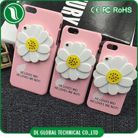 mobile accessories for girls' hard pc material phone case for iphone 5s with white Daisy mirror DLPC319