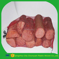 Knitted plastic leno mesh bags for vegetables and fruits packing