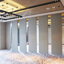 Construction Material Leather Finishes Aluminum Sound Proofing Movable Partition Walls
