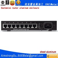 XAX439Alu OEM ODM customized laser cut bend weld sheet aluminum alloy gigabit dual wan vpn Router box
