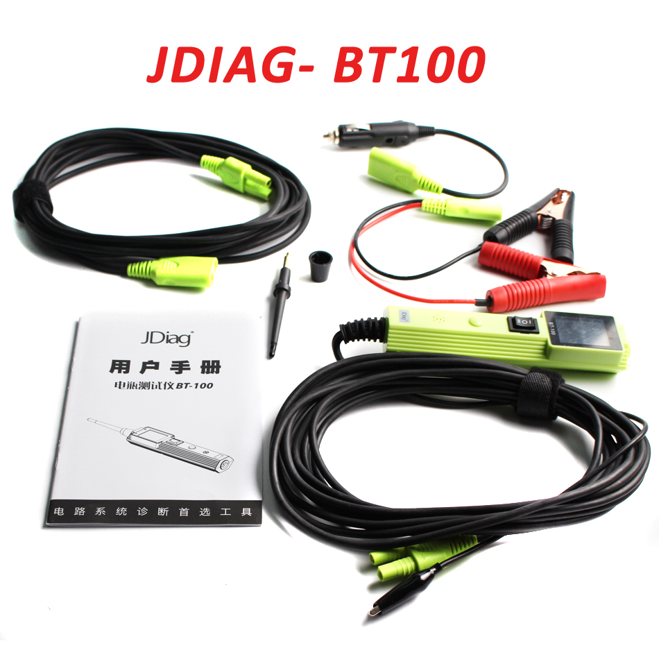 ORIGINAL JDIAG BT-100 BATTERY ELECTRICAL SYSTEM CIRCUIT TESTER TFT color display new car battery Tester BT-100