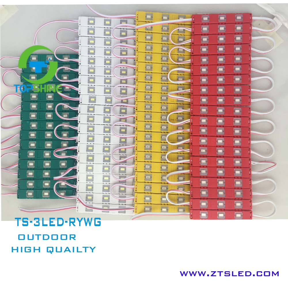 DC 12v SMD 5730 injection led module 3 chips lighting direct warm white led injection module plastic track for Channel letter