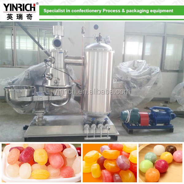 Batch Vacuum cooker for hard candy