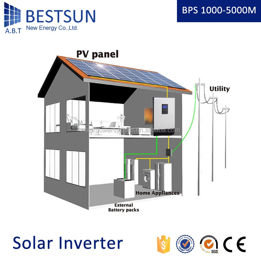 [BESTSUN] Hybrid DC Pure Sine Wave Inverter Solar Powered Air Conditioner and Generator