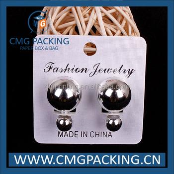 Custom printed earring display cards uk espa?a