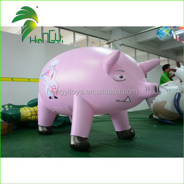 Commercial Giant Pink Inflatable Pig Helium Balloon For Promotion