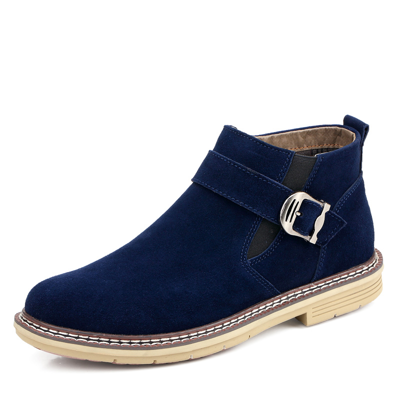 One pair moq cheapest price winter man <strong>boot</strong> in suede leather materials under 35USD