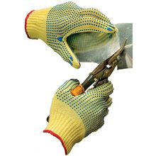 Safe Handler Puncture Resistant Safety Aramid Fiber Dotted Gloves