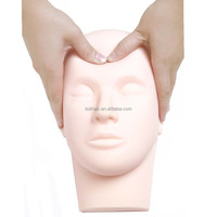 Soft Pro Mannequin Training Head Eyelash Eye Extension Make Up Practice Face Painting Model