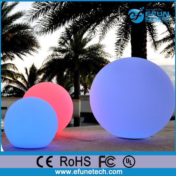 remote control rechargeable illuminated rgb color waterproof plastic led light up outdoor balls furniture
