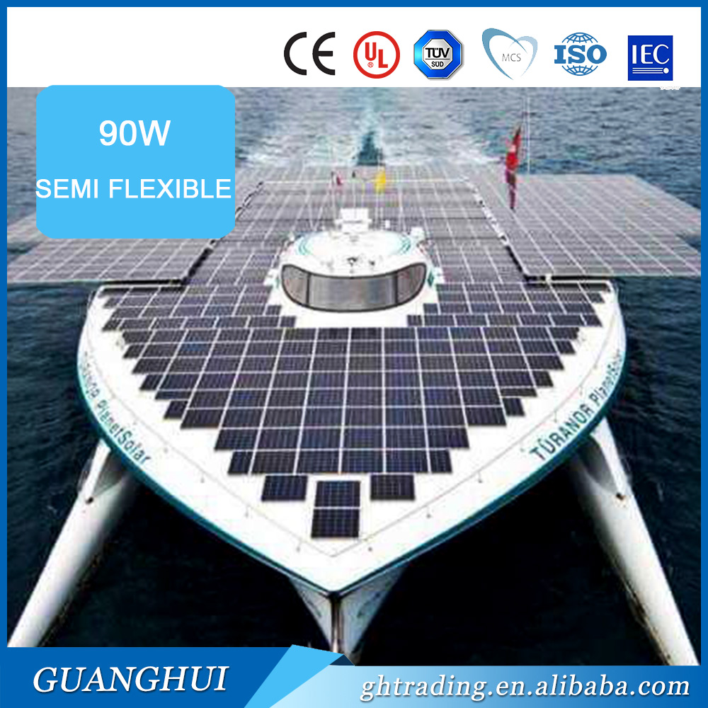 Adjustable marine solar panel mounts 90w high output fold-out flexible solar panel made in china