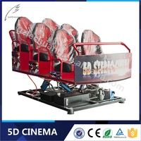 Exciting Thrilling Dynamic 5D Theater Driving Simulator Hydraulic Electric 5D 7D 9D Cinema
