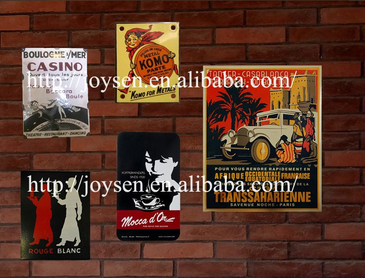 hot sale decorative enamel sign, cafe advertising board, street signpost