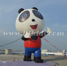 Giant advertising inflatable cartoon, inflatable panda ground balloon for promotion K2091