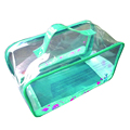 Recyclable clear PVC mens travel wash bag