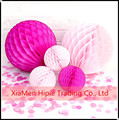 PINK Tissue paper honeycomb lanterns party decoration wedding paper ball