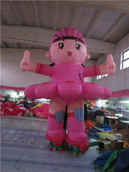hot selling skateboard girl inflatable cartoon