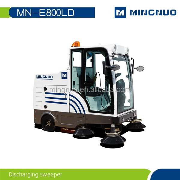 E800LD CE approved industrial vacuum parking lot discharging sweeper Engineers,sidewalk sweeping machine