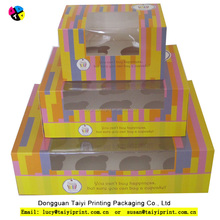 wholesale custom cheap kraft paper cupcake boxes (1 to 24 cups)